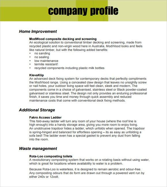 32+ Free Company Profile Templates in Word Excel PDF