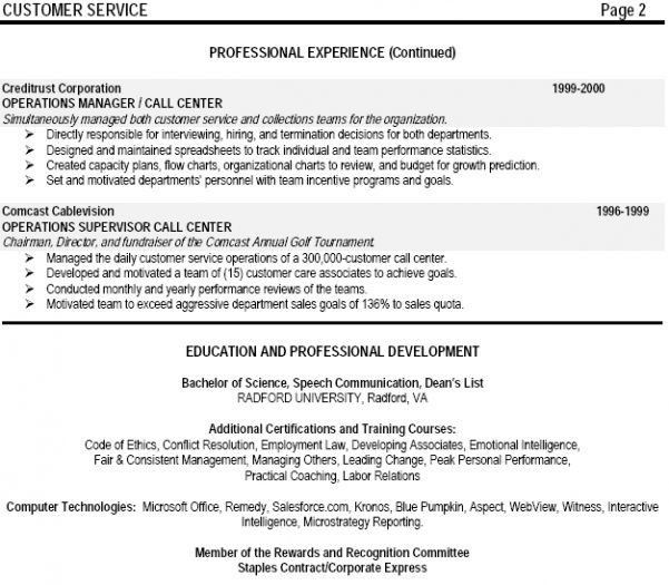 supervisor resume 10 supervisor resumes call center manager sample