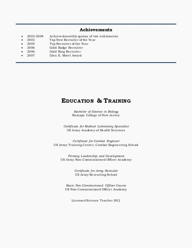 Army Recruiter Resume Unbelievable Army Resume 14 Army Recruiter