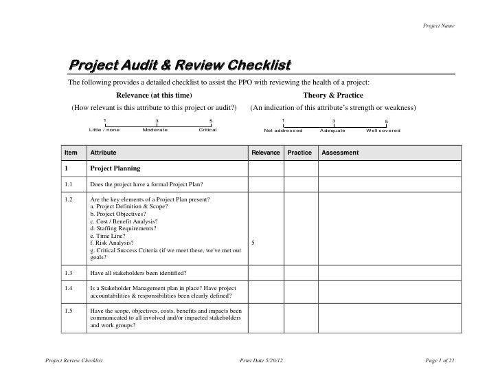 Audit Form Template | Documents and PDFs