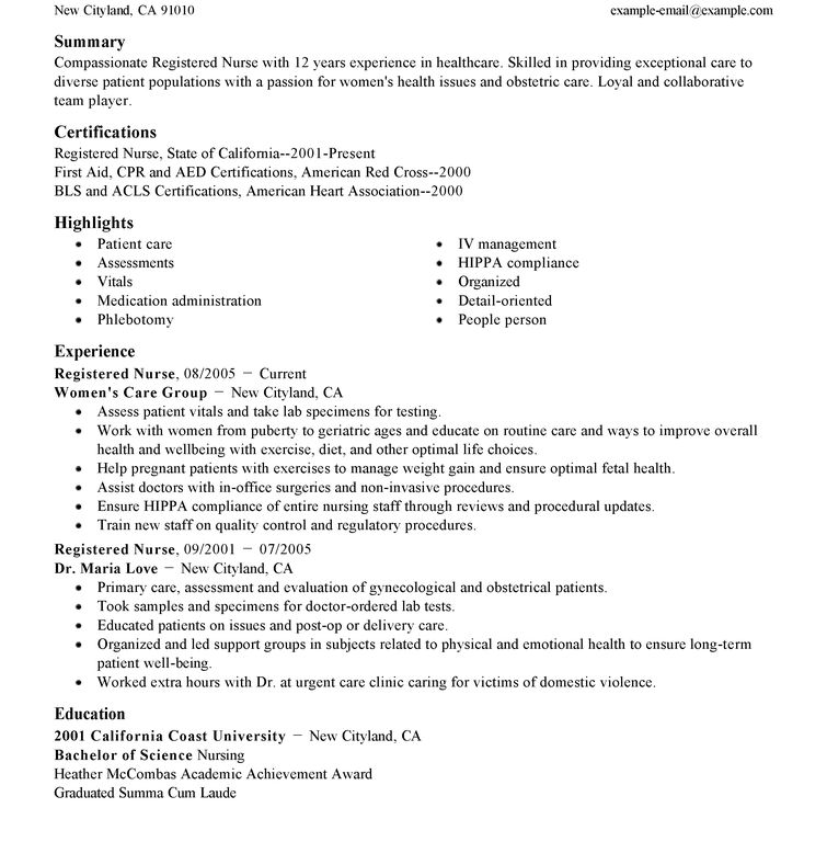 Standard Resume - Resume Example