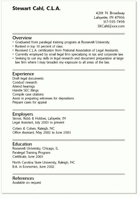 example of a college resume example resume for college students ...