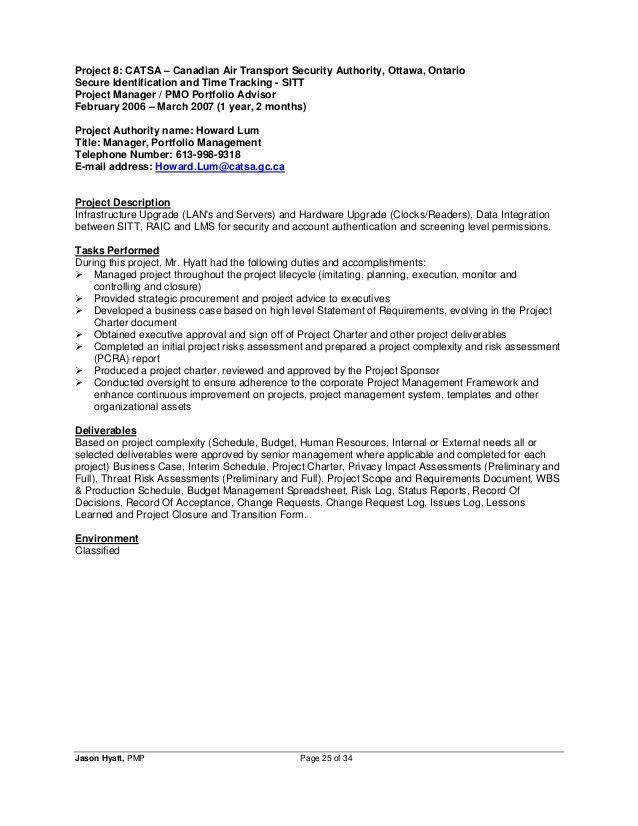 Jason Hyatt, PMP - Resume - Project Manager - 2014-11-27