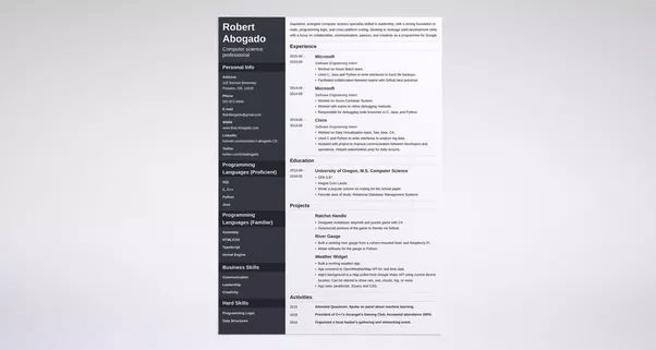 What are some examples of great programmer resumes? - Quora