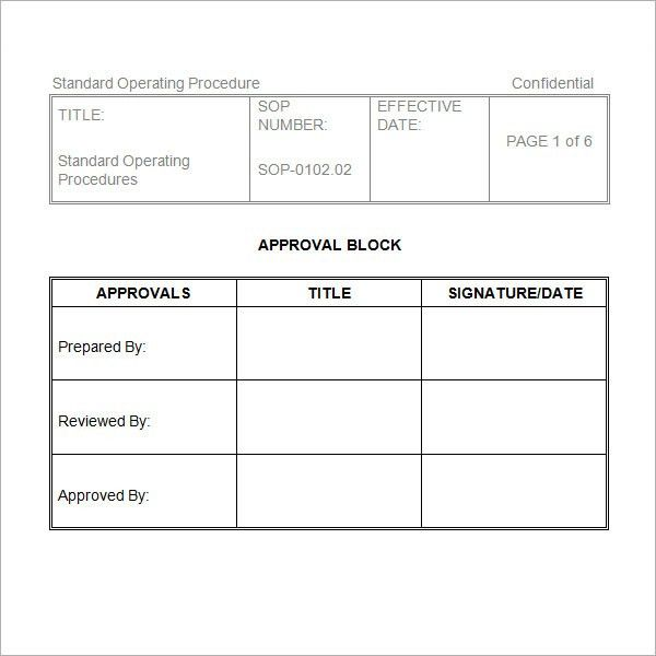 Free Standard Operating Procedures Template Download Sop Template .  Free Standard Operating Procedures Template Download