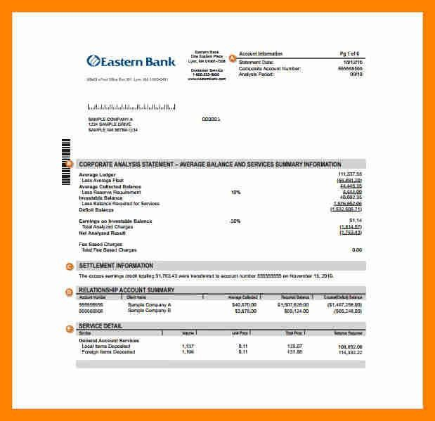 5+ sample bank statement | resume sections