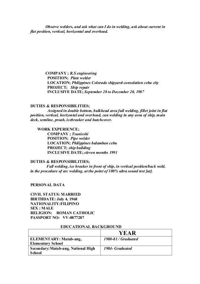 description of a welder welder job description 10 free word pdf