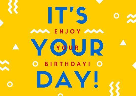 Bright Yellow Confetti Birthday Card - Templates by Canva