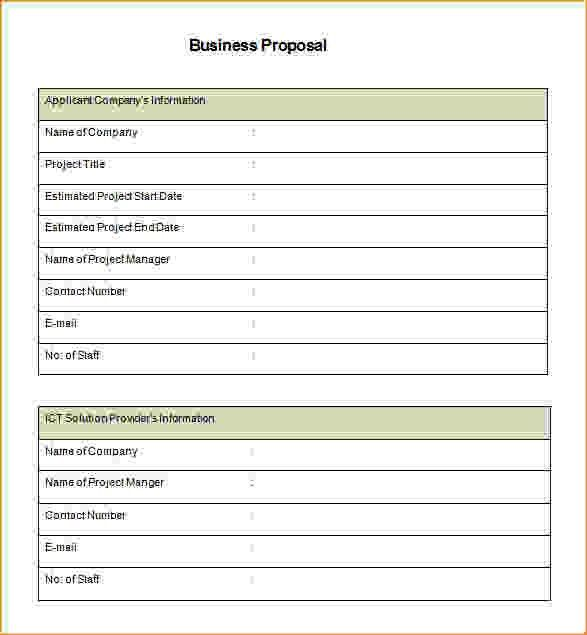 Business Proposal Template Free.Sample Commercial Business ...