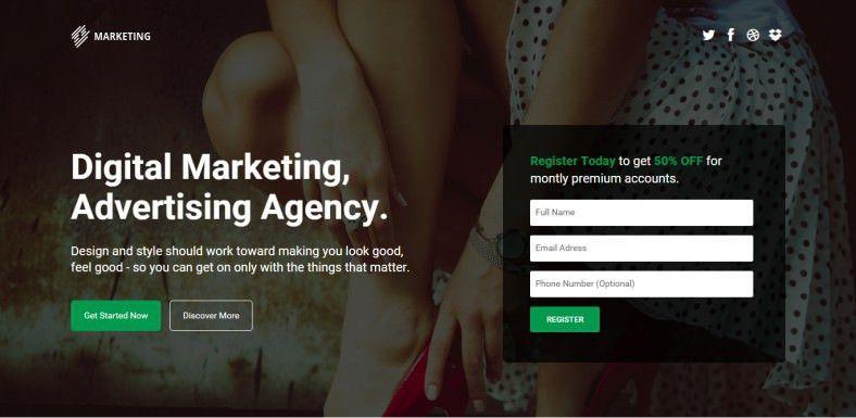 Startup Landing Page Templates   Free & Premium   Free & Premium ...