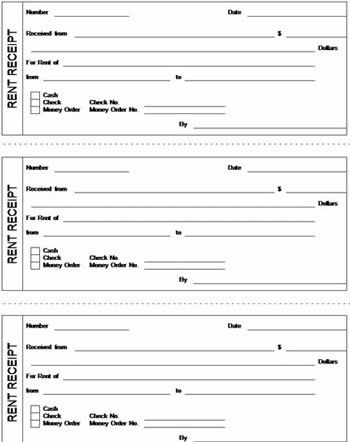 Rent Receipt Template Excel Format - Excel About