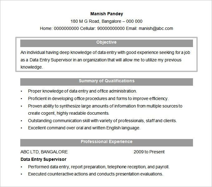 proper resume format examples best resume format to use resume ...