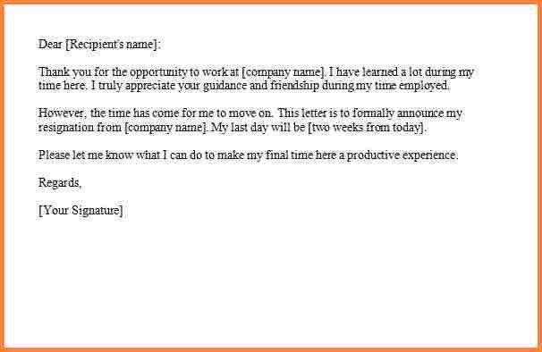 12+ resignation letter samples 2 week notice | Resign Letter Job