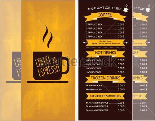 Cafe Menu Template - 39+ Free Word, PDF, PSD, EPS, InDesign Format ...