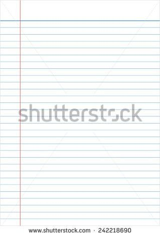 Blank Lined Paper Texture Notepad Stock Vector 548315218 ...