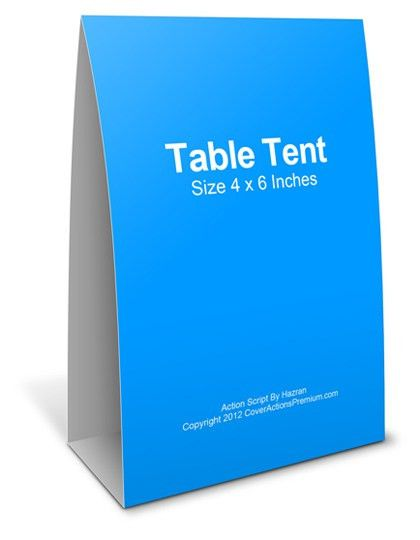 Table Tent Mockup Action Script | Cover Actions Premium | Mockup ...