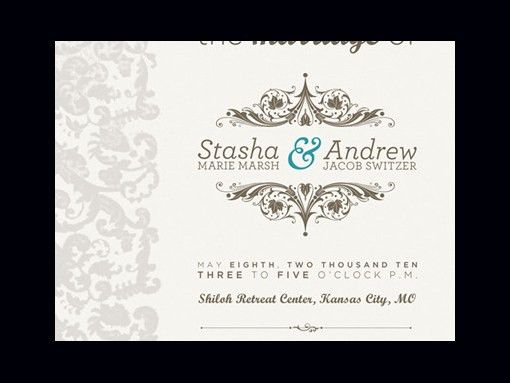 Sample Wedding Invitation Design | Invitation Ideas
