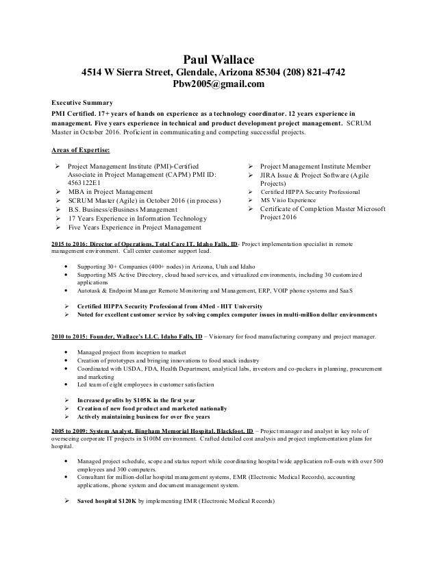 project management resume samples director project management ...