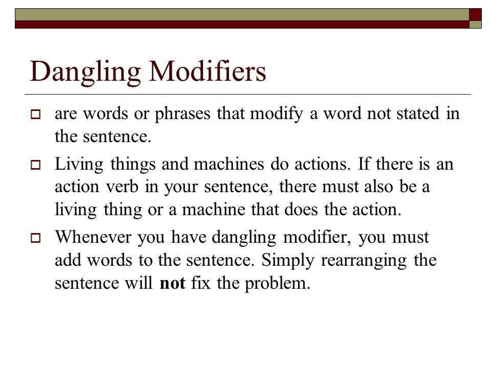 Misplaced and Dangling Modifiers - ppt video online download