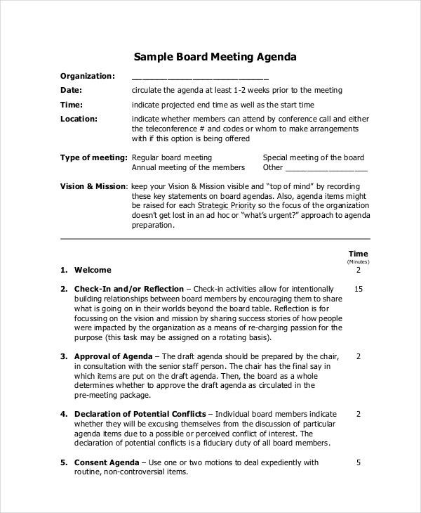 Meeting Agenda Template - 10+ Free Word, PDF Documents Download ...