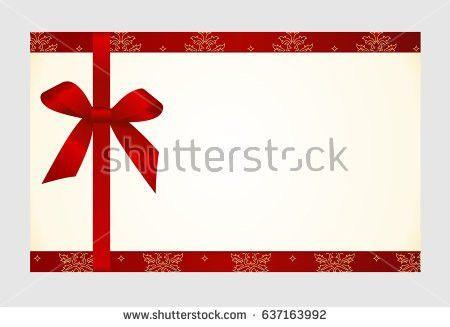 Gold Silver Gift Voucher Stock Vector 158210198 - Shutterstock