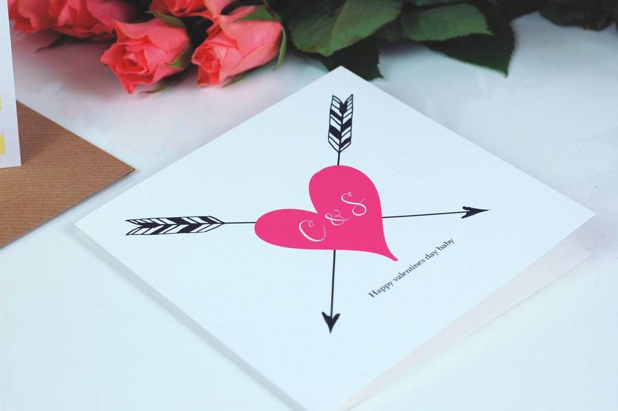 tattoo print monogram wedding anniversary card by made with love ...