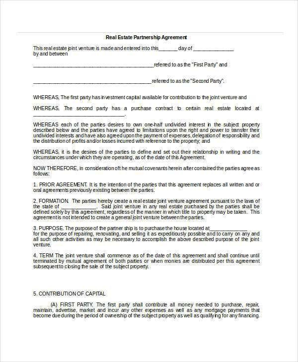 General Partnership Agreement - 9+ Free PDF, Word Documents ...