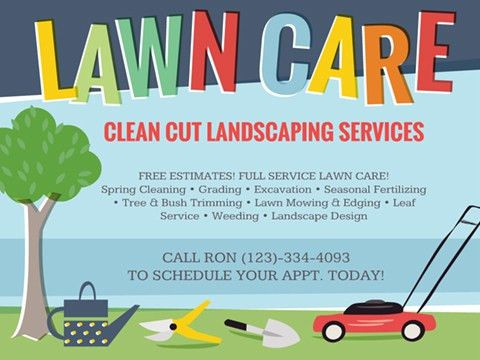 Lawn Care - Flyer - Smilebox
