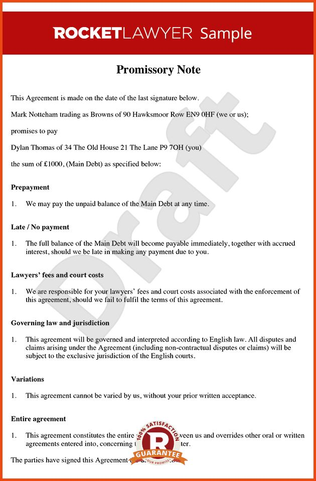 Free Promissory Note Template.debt Promissory Note.png ...