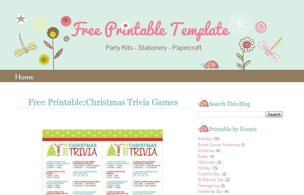 Free Blogging Templates | Template Design
