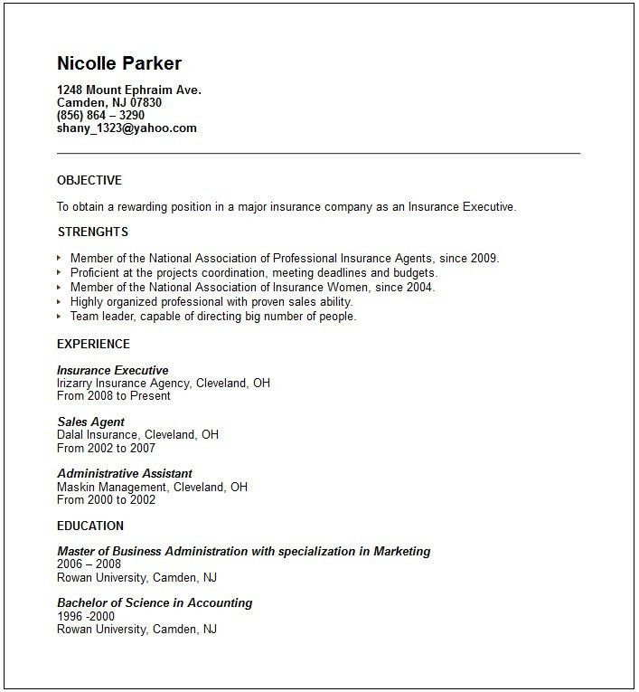 Job Resume Examples No Experience. How To Write A Resume With No ...