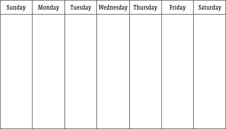 Workweek Calendar Template | Blank Calendar Design 2017