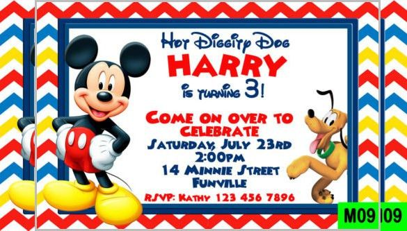 Mickey Mouse Invitation Template – 23+ Free PSD, Vector EPS, AI ...
