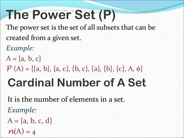 Final maths presentation on sets
