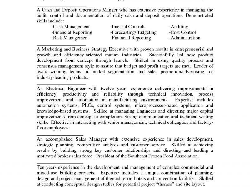 Resume Summary Examples Entry Level [Template.billybullock.us ]