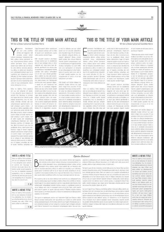 Classic Newspaper Template
