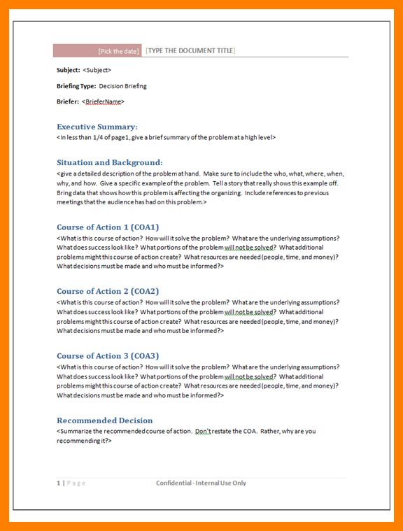 5+ briefing document template | hostess resume