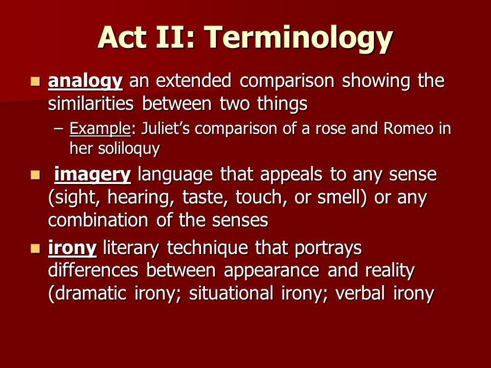 Romeo and Juliet Vocabulary and Terminology. Your Responsibilities ...