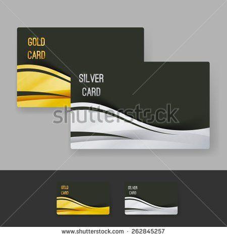 Golden Silver Membership Luxury Card Design Stock Vector 262845257 ...