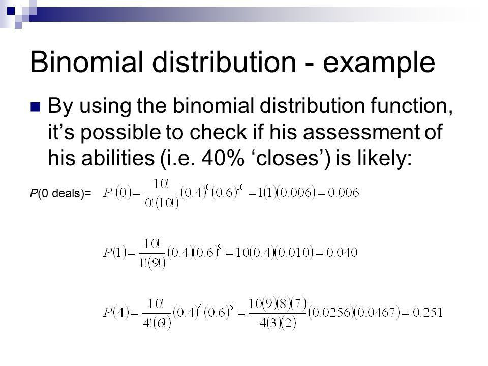 Discrete Random Variables: The Binomial Distribution - ppt video ...