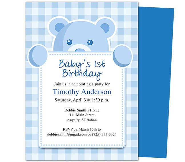 Sweet Cakes 1st Birthday Invitation Templates. Great template for ...