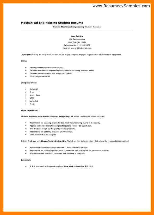 first job sample resume