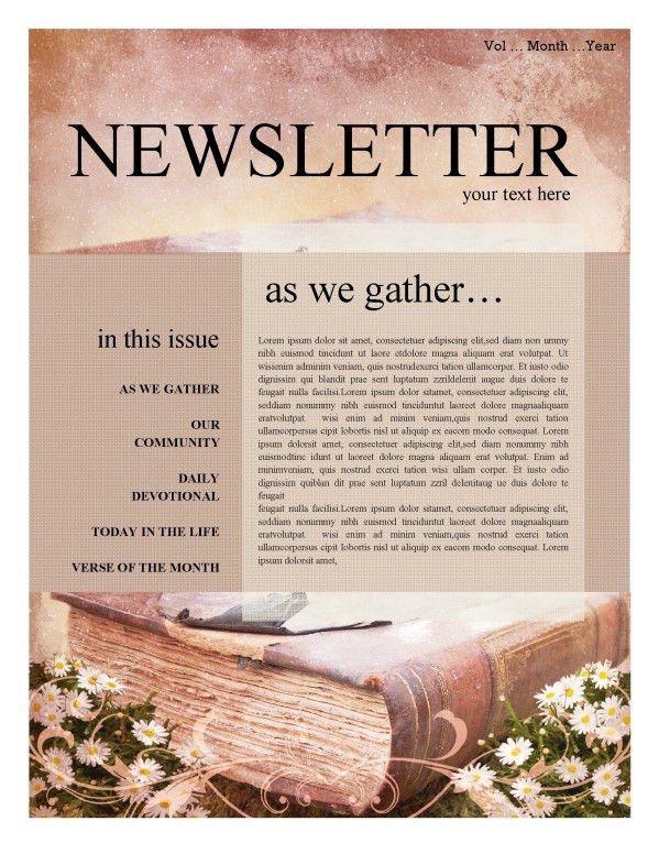 Baptism Church Newsletter Template Template | Newsletter Templates