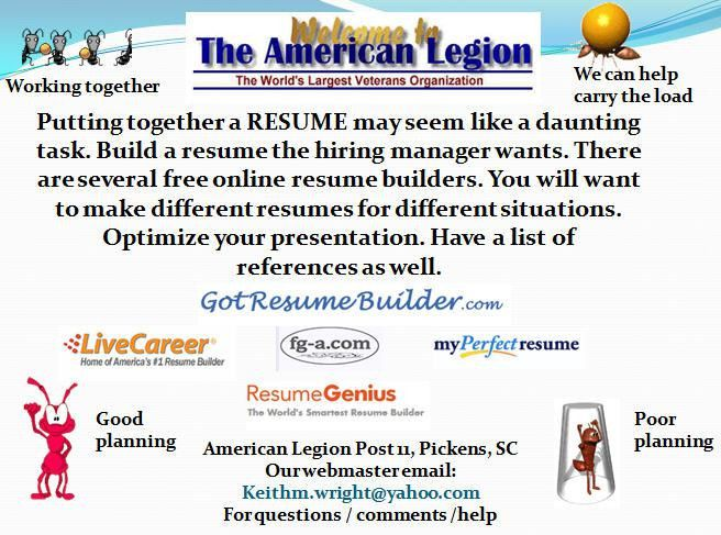 resumes - Transitioning veterans