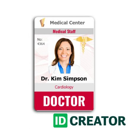 Free Custom ID Card Templates by IDCreator. Make ID Badges!