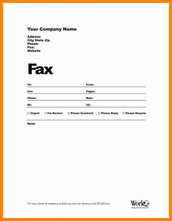 Sample Modern Fax Cover Sheet. Blank Fax Cover Sheet Example ...