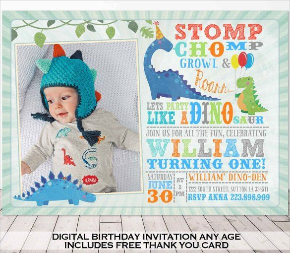 Dinosaur Birthday Invitation Templates - 27+ Free PSD,EPS,JPG ...