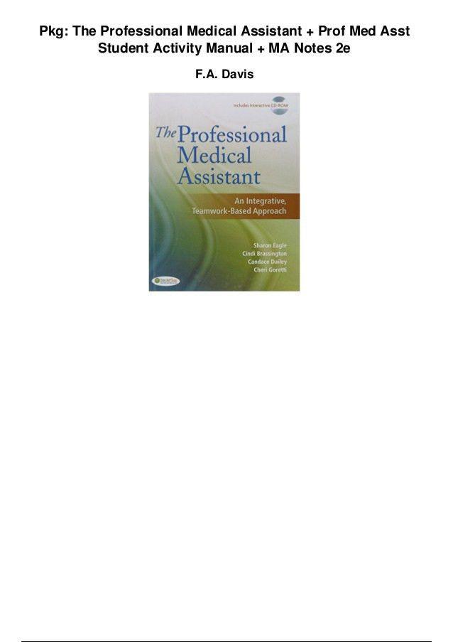 Pkg the professional medical assistant prof med asst student activit…