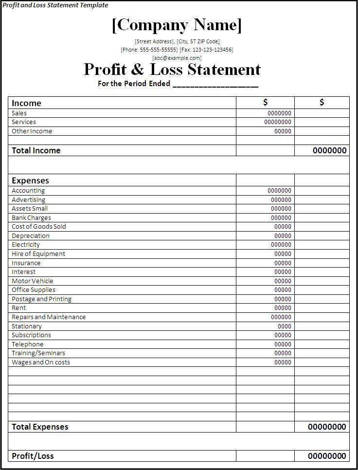 Simple Financial Report Template Monthly Statement Template ...
