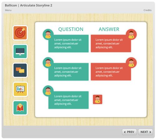 Here's a Free E-Learning Template Made with Free Icons   The Rapid ...